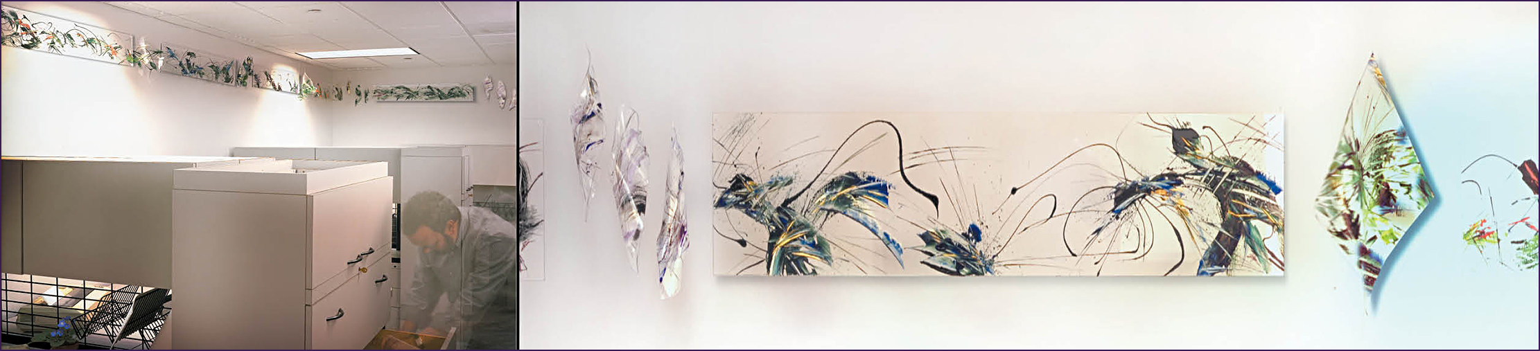 Amy Thornton Art Plexiglas Paintings Sculptural Plexiglas paintings