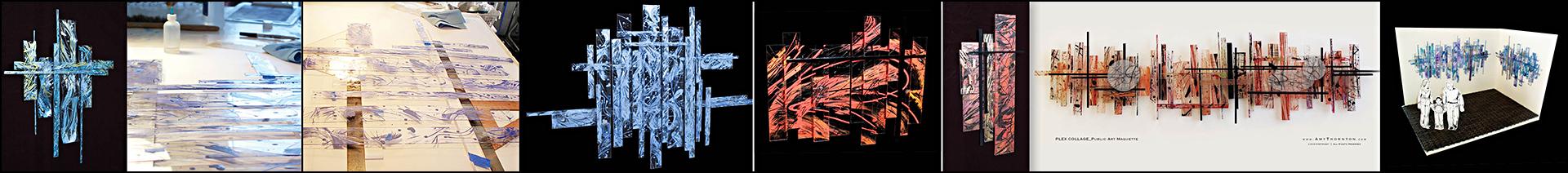 Amy Thornton Art Plexiglas Panel Paintings