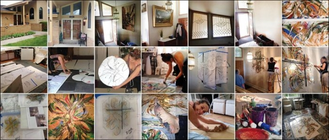 Amy Thornton Artworks Commission Process Making the Art