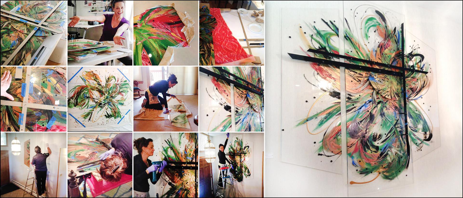 Amy Thornton Artworks Residential Commission Installation Process